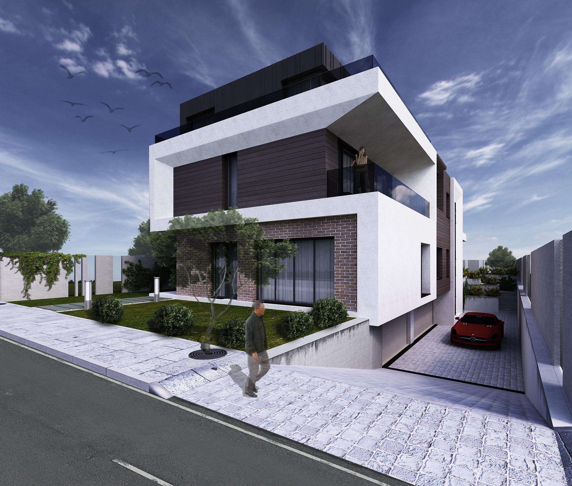 Proiectare casa cu 2 unitati locative